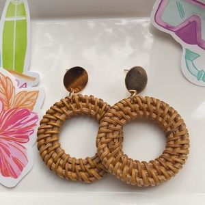 ✨HP✨Wicker Circle Drop Earrings